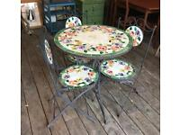 Garden Set - Table & 3 Chairs