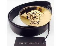 Versace Medusa Belt Size 100/40 Black & Gold Brand New