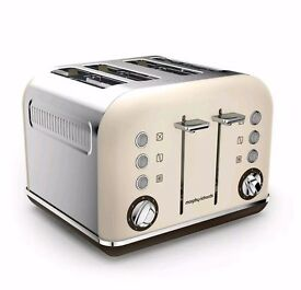 Morphy Richards Accents 4 Slice Toaster Cream *New