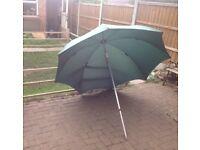 Vintage fishing umbrella (with tilt) approx 66 inch diameter- nylon