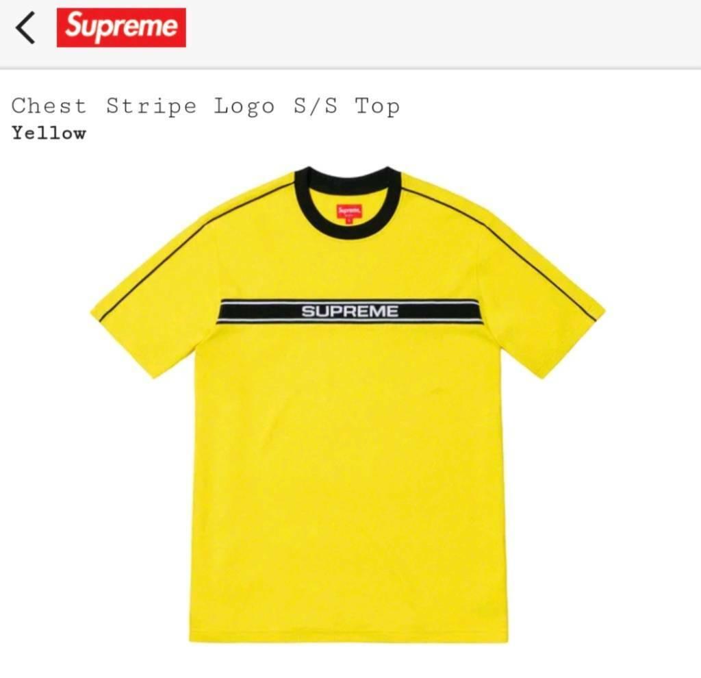6c33334ecbb4 Supreme Chest stripe logo size M in yellow | in Paisley, Renfrewshire ...
