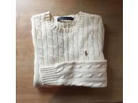 Brand New Ralph Lauren women's cable knit jumper Small