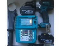Makita 18v combo drill with 2 3 ah batteries and charger