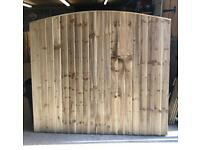 🥇 BOW TOP PRESSURE TREATED WOODEN GARDEN FENCE PANELS
