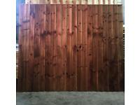 Fence heavy duty feather edge fence panels