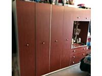 X2 double wardrobe 3 drawer mirror unit and 2 draw Chester draws