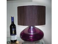 2x Glass Table Lamps