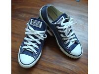All Star Low Converse, Blue - Size UK 6 / EUR 39