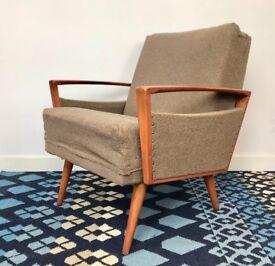 Vintage Retro Armchair Brown #633