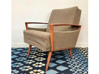 Vintage Retro Armchair Brown #633