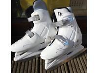 Adjustable white ice skates size 2 - 4