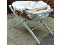 Mothercare moses basket and stand. In good clean condition.