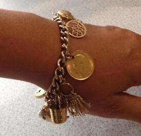 9ct/ 22ct Gold Charm Bracelet, 41g, Christmas