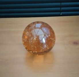 LARGE AMBER PAPERWEIGHT