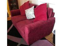 Argos red fabric sofa
