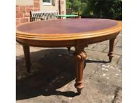 Victorian leather top table antique