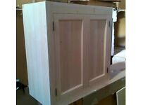 Solid pine kitchen wall cupboard (without cornice)