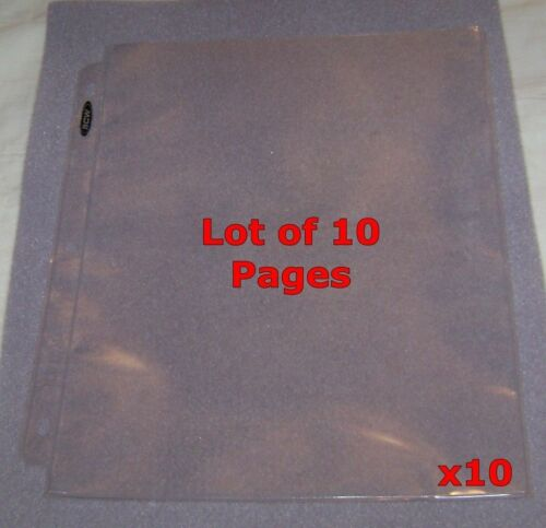 """10 1-POCKET 8.5""""x11"""" STOCK CERTIFICATE PAGES HOLDER NEW! 3-RING ALBUM SHEETS"""
