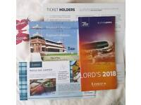 England Vs Pakistan Test Match Tickets at LORDS 26.05.18 (Saturday)