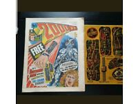2000ad comic prog 2 with free gift stickers