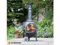Traditional style ASPEN X-Large Steel 125cm Chimenea Patio Heater Incl BBQ Grill
