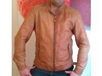 Tan 'Brampton' Leather Jacket (large)