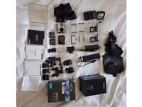 Gopro Hero 4 Black Edition with rear LCD / plus lots of extras