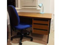 Simple, sturdy wooden desk
