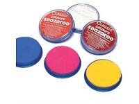 Snazaroo facepaint 18ml pallets various colours available
