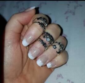 Finger rings x 7