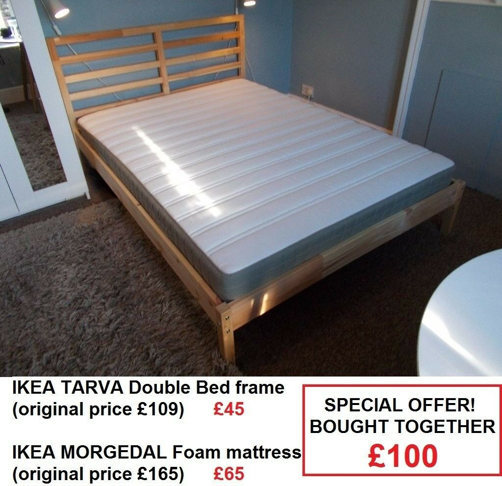 IKEA Bed frame + Foam mattress | in Leicester, Leicestershire | Gumtree