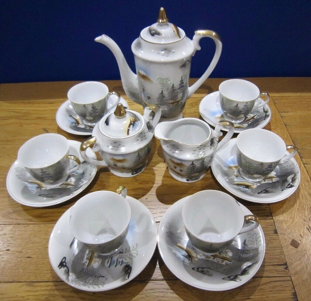 Japanese Jotako China Tea Service Excellent Condition