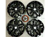 "17"" Genuine Nissan Juke Qashqai alloys, black/red, almost new, perfect cond."