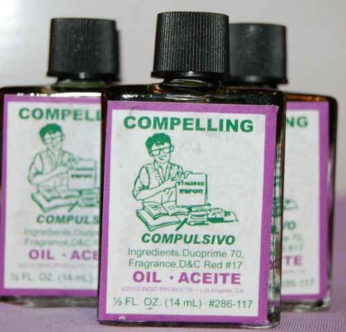 Compelling Magickal Oil (1) 4DRMs , Bend one To Your Favor, Santeria, Hoodoo