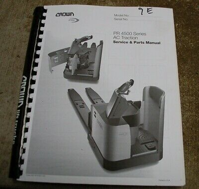 CROWN PR 4500 AC Forklift Service Repair Parts Manual book catalog list spare for sale  Shipping to India