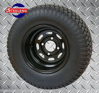 """Used, GOLF CART 10""""x7'' BLACK STEEL WHEELS and 20"""" STREET/TURF TIRES (SET OF 4)  for sale  Greenville"""