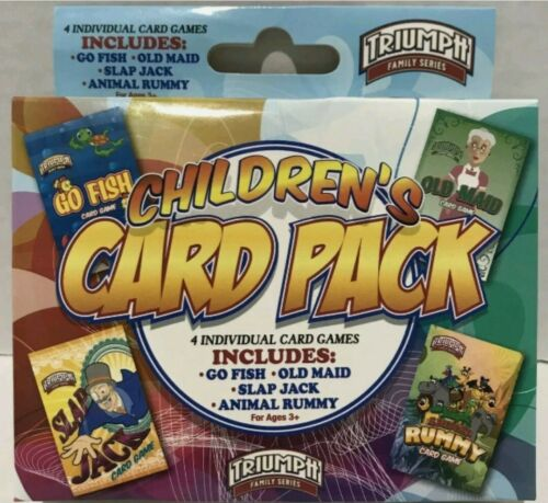 Triumptt Children's CARD PACK  4 Individual Card Games Ages 3+