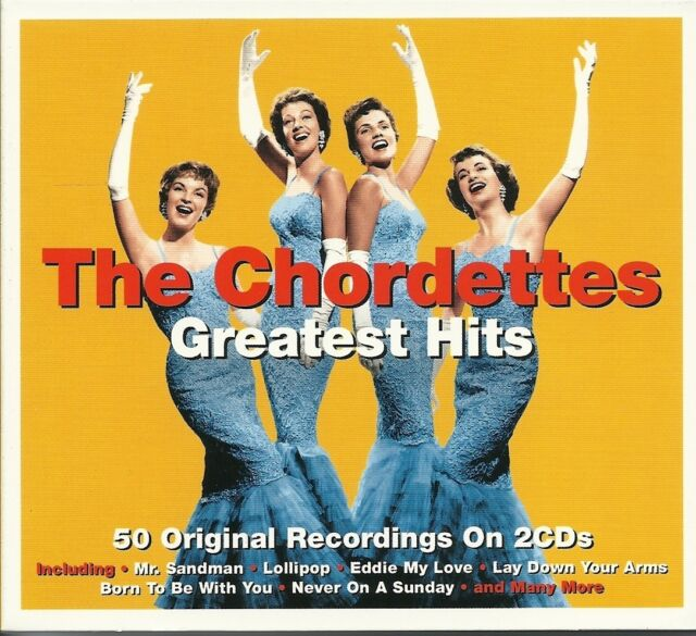 THE CHORDETTES GREATEST HITS - 2 CD BOX SET - MR SANDMAN, LOLLIPOP, TAMMY & MORE
