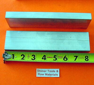 2 Pieces 34 X 2 Aluminum 6061 Flat Bar 8 Long .750 Solid New Mill Stock