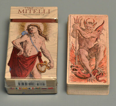 TAROCCHINO MITELLI BOLOGNA 1660 TAROT CARD DECK REPLICA - NIB - LIMITED EDITION