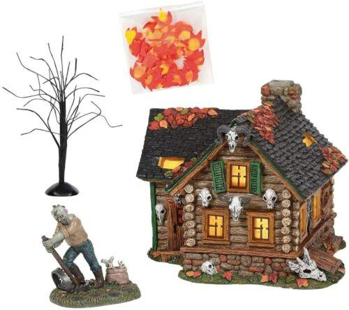 Dept 56 Halloween Village HAUNTED HUNTSMAN HOUSE SET OF 4 6005480 NEW IN BOX