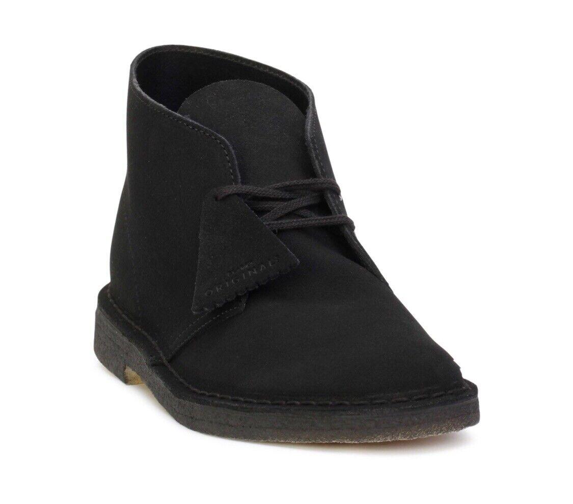 Clarks Originals Desert Boots Black Suede. Men's Sizes. 26138227