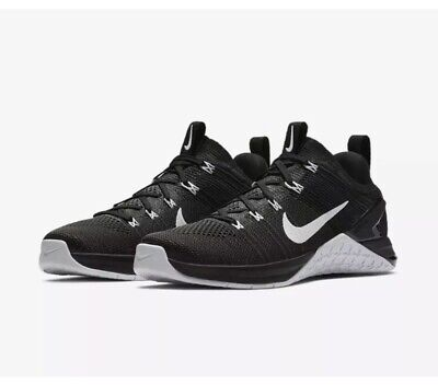 NIKE METCON DSX FLYKNIT 2 CROSSFIT TRAINERS UK 7.5 EUR42 924595-001 Black White