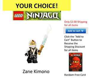 Lego Ninjago Mini Figures New Your Choice Kai Llyod Cole Jay ZX Garmadon NRG