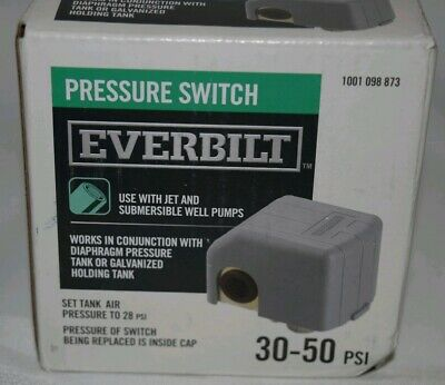 New Everbilt Jet Submersible Well Pump Pressure Switch 30-50 Psi Ebps3050