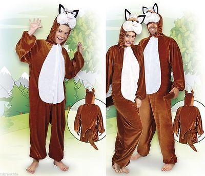 Fuchs Kostüm Overall Plüsch Fuchskostüm Fuchsoverall Eisbär Tiger Hund Wolf (Eisbär Kostüm)