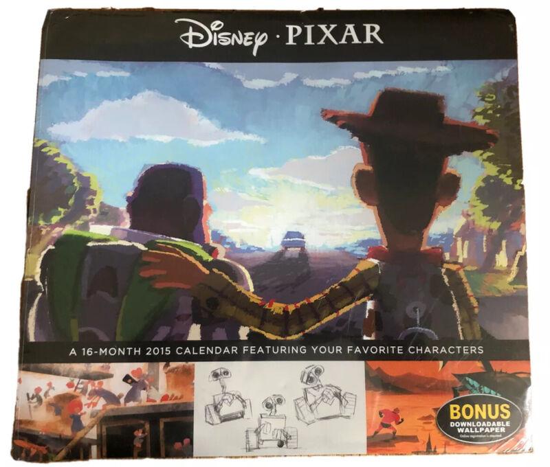 PIXAR Disney Movie Favorites 2015 Calendar Toy Story Buzz Wall-E Nemo NOS SEALED