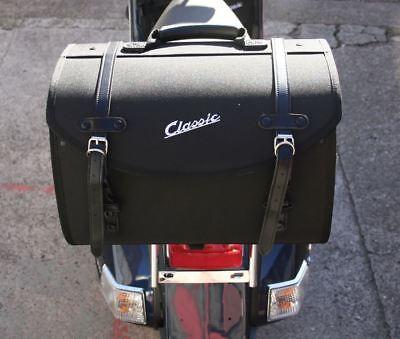 Vespa Classic Soft Top Box Luggage Storage Bag Black PX GTS LX ET etc