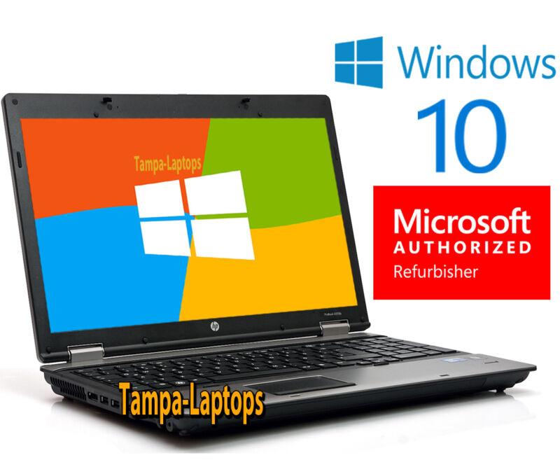 HP PROBOOK LAPTOP COMPUTER 2 CORE 2.1GHz 4GB 15.6 HD DVD WINDOWS 10 WIN WiFi PC