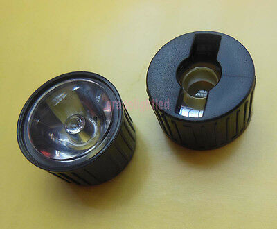 50pcs 25 Degrees Led Lens Reflector For 1w 3w 5w Hight Power Led With Holder